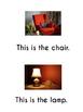 ESL Living Room Vocabulary Emergent Reader