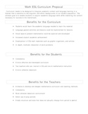 ESL Math Curriculum and Team Teaching Collaboration Proposal