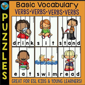 ESL NEWCOMER GAMES: BASIC VERBS PUZZLES