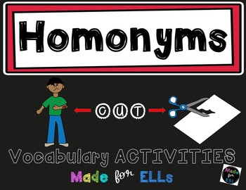 ESL Newcomer Homonyms Vocabulary Activities