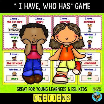 ESL Newcomer Vocabulary Game: Emotions