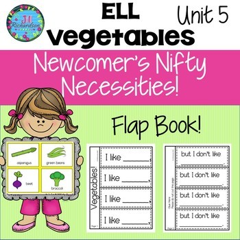 ESL NEWCOMER Vegetable Interactive Printables!  ELL Activities