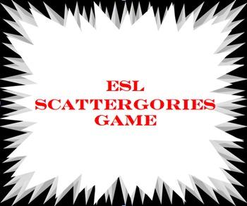 ESL Printable Scattergorie Cards