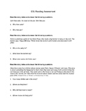 ESL Reading Assessment