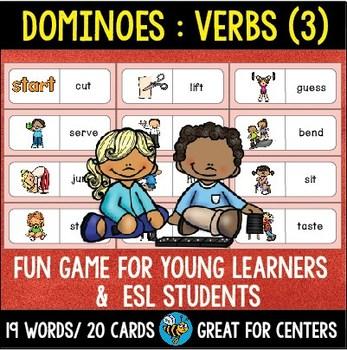 ESL Resources: Basic Verbs Domino Game (set 2)