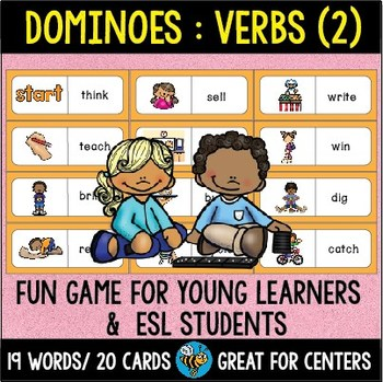 ESL Resources: Basic Verbs Domino Game (set 3)