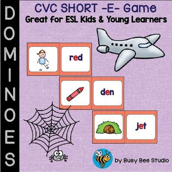 ESL Resources: CVC short -e- Domino Game