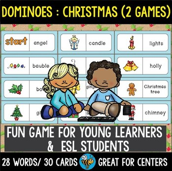 ESL Resources: Christmas Words Domino Game