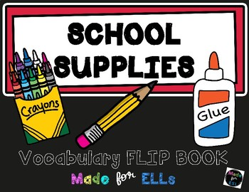 ESL School Vocabulary Flip Books