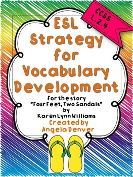 ESL Strategy for Vocabulary Development for Four Feet, Two