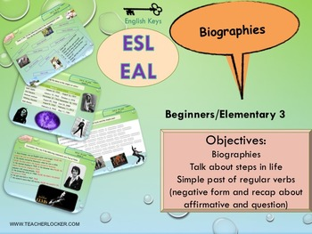 ESL Unit 6 lesson 3 simple past and life events beginners NO PREP