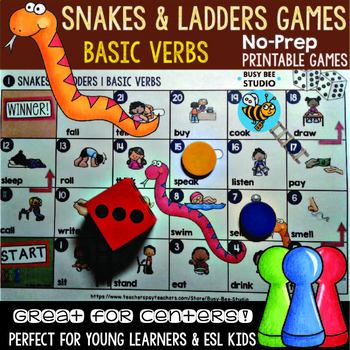 ESL resources: Basic Verbs Board Game