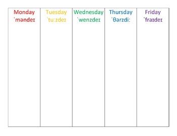 ESL Weekly Planner
