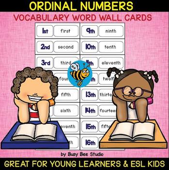 ESL Word Walls: Ordinal Numbers