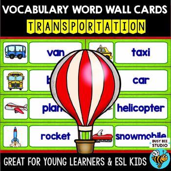ESL Word Walls: Transportation