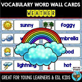 ESL Word Walls: WEATHER