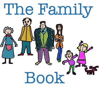 """ESL or EFL book, """"The Family Book"""" for kids ages 3 and up"""