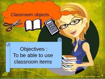 ESL classroom objects