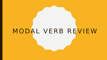 ESL for Adults - Modal Verb Review PowerPoint w/examples