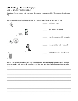 ESL for Adults - Process Paragraph Writing - Using Transit