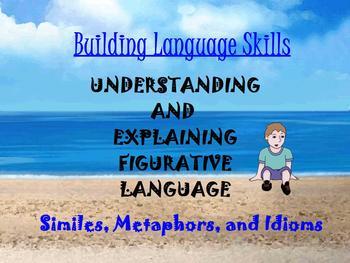 ESL/ELL BUILDING LANGUAGE ~ SIMILES, METAPHORS, IDIOM ELA