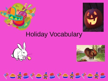 ESL/ELL English Holiday Vocabulary Power Point PPT