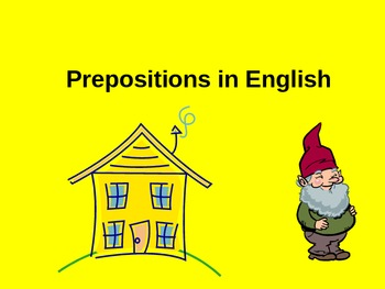 ESL/ELL English Prepositions Power Point ppt