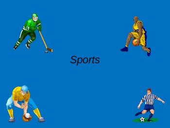 ESL/ELL English Sports Vocabulary Power Point ppt