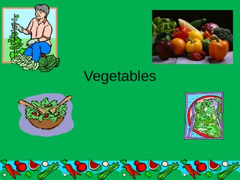 ESL/ELL English Vegetable Vocabulary Power Point ppt