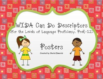 ESOL WIDA Descriptors Posters