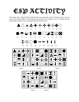 ESP Activity - Magic with Numbers