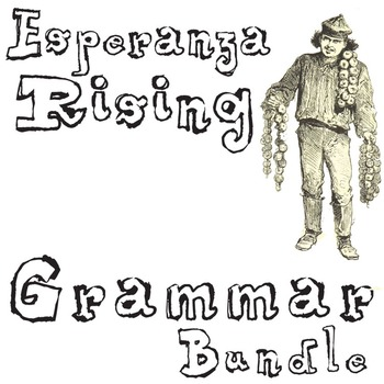ESPERANZA RISING Grammar Bundle Commas Conjunctions Prepos