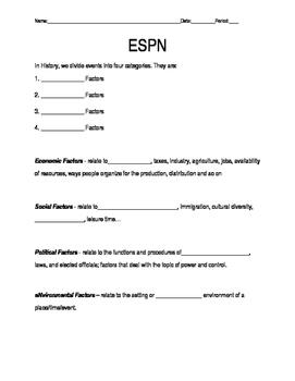 ESPN Factors Notes