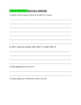 ESSAY WRITING British Empire for 4th Grade