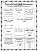 EUREKA MATH 2nd Grade Spiral Review Homework Sheets Module