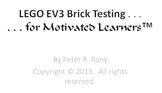 EV3 LEGO Robot Systems - Brick Testing
