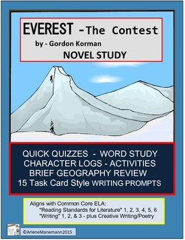 EVEREST Book One, The Contest - Novel Study, Quick Quizzes