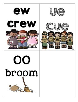 EW, OO, and UE Picture and Word sort