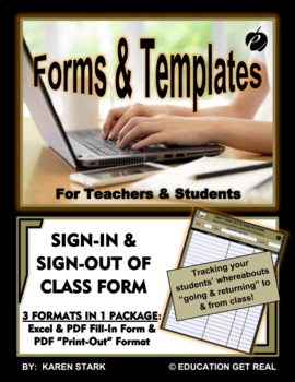 """EXCEL TEMPLATE & WORD FORM """"Tracking Students COMING & GOI"""