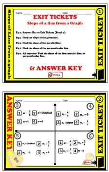 EXIT TICKET - Find Slope From Graph
