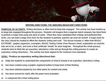EXPOSITORY WRITING: THE GREAT CARD TRICK CHALLENGE (PowerP