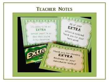 EXTRA Special Teacher Notes