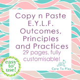 Copy n Paste: Early Years Learning Framework Outcomes, Pri