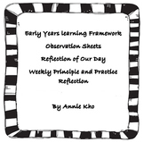 EYLF Observation, practice,principle reflection, reflectio