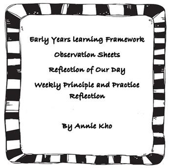 EYLF Observation, practice,principle reflection, reflectio