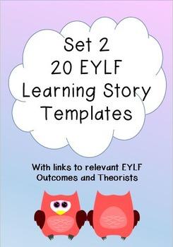 EYLF set of 20 Learning Story Templates SET 2