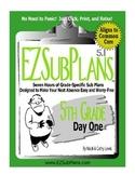 EZSubPlans: Emergency Absence Plans, Fifth Grade, Day 1