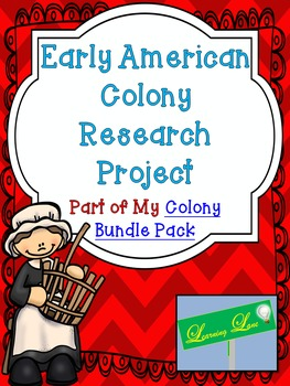 Early American Colony Research Project (Editable Rubric!)