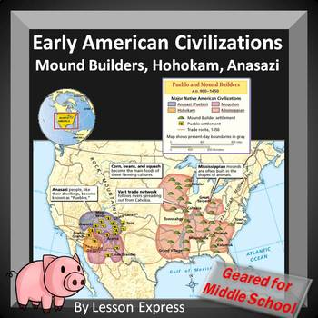 Early American Civilizations, Mound Builders, Hohokam and