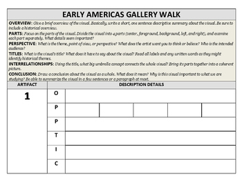 Early American Gallery Walk